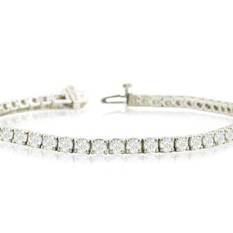 9 3/4 Carat Diamond Tennis Bracelet In 14 Karat White Gold, 8 1/2 Inches