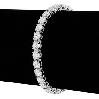 8 Carat Diamond Tennis Bracelet In 14 Karat White Gold, 6 Inches