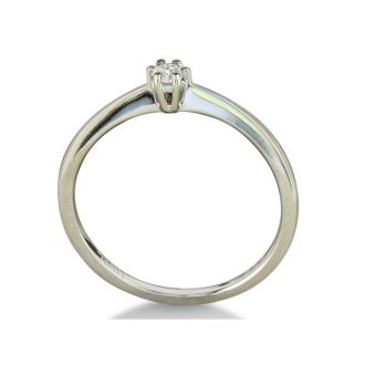 1/10ct Diamond Solitaire Ring in Sterling Silver-only 1 left, Size 7