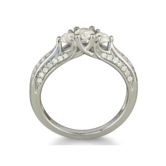 Stunning 1/2ct Three Diamond Ring in Sterling Silver. low quality diamonds. Only 1 Left