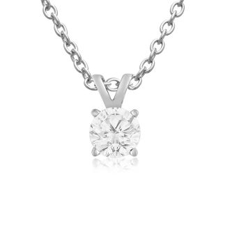Our #1 Diamond Necklace! 1/4ct Diamond Necklace in White Gold With Free Chain!