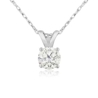1/3ct Colorless Diamond Pendant in 14K White Gold. Genuine, Natural, Earth-Mined Diamond At An Amazing Price!