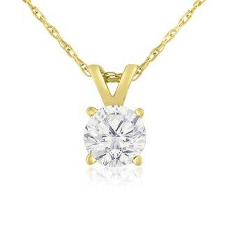3/8ct 14k Yellow Gold Diamond Pendant