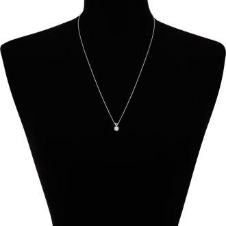 1/3ct 14k White Gold Diamond Pendant, J/K color, I1/I2 Clarity,
