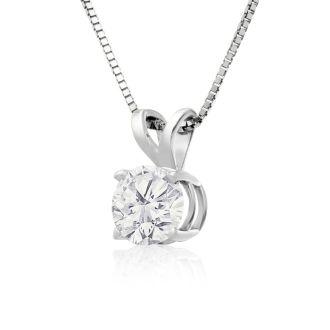2/3ct 14k White Gold Diamond Pendant, 2 Stars
