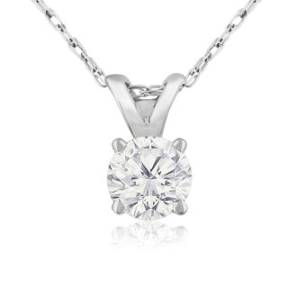 1/3ct 14k White Gold Diamond Pendant, I/J Color, SI3 Clarity