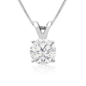 3/4ct 14k White Gold Fine Diamond Pendant