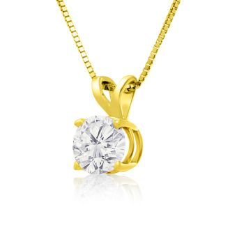 3/4ct 14k Yellow Gold Diamond Pendant