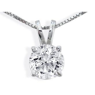 .85ct 14k White Gold Diamond Pendant, 3 stars