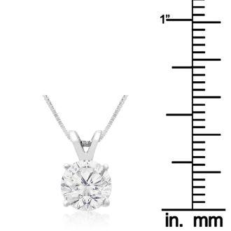 Fine 1ct 14k White Gold Diamond Pendant, Lowest Price Ever.