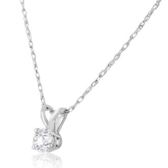 1/6ct Diamond Pendant in 14k White Gold