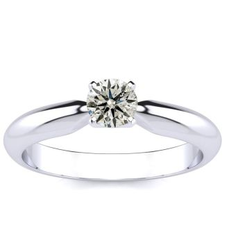 1/4 Carat 14K White Gold Diamond Engagement Ring