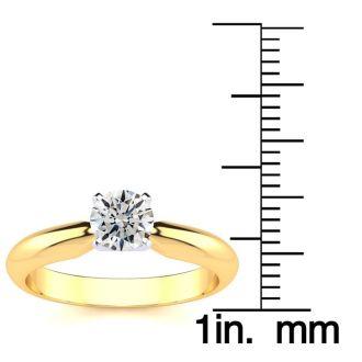 1/2 Carat 14K Yellow Gold Diamond Engagement Ring