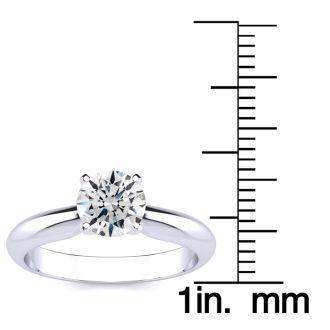 1 Carat 14K White Gold Diamond Engagement Ring