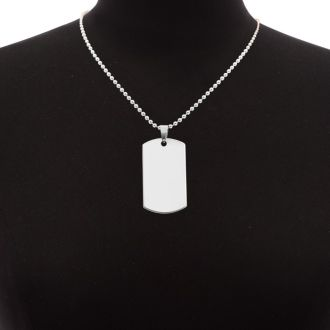 Stainless Steel Dog Tag With Free Custom Engraving, 19 Inches. Our #1 Engravable Item!