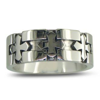 Men's Titanium Cross Band Sizes 8-11.5