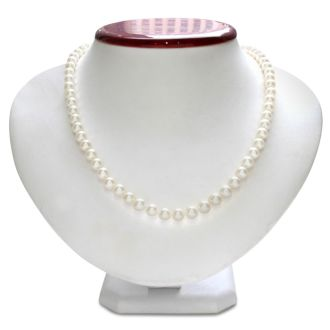 6mm AA Hand Knotted Pearl Necklace, Sterling Silver Clasp.  Really Beautiful Pearls For That Special Someone!