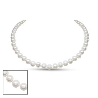 16 inch 7mm AA+ Pearl Necklace With 14K Yellow Gold Clasp
