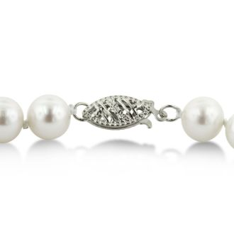 18 inch 7mm A Pearl Necklace With Sterling Silver Clasp