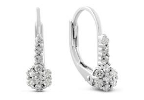 1/4ct Diamond Leverback Drop Earrings < Save 65% with Code SJ65 >