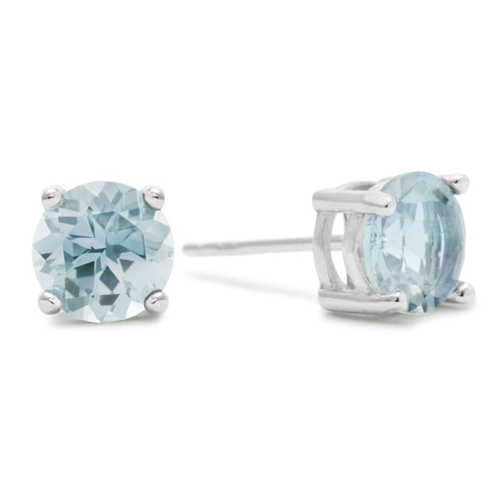 2c1ff53ff 2 Carat Blue Topaz Earrings in Sterling Silver | Blue Gemstones ...