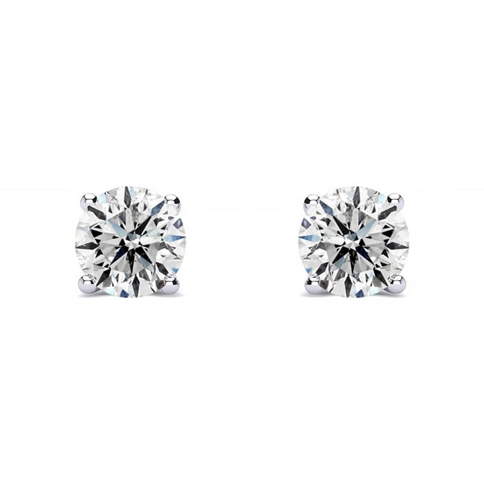 1/3 Carat Colorless Diamond Stud Earrings In 14 Karat White Gold