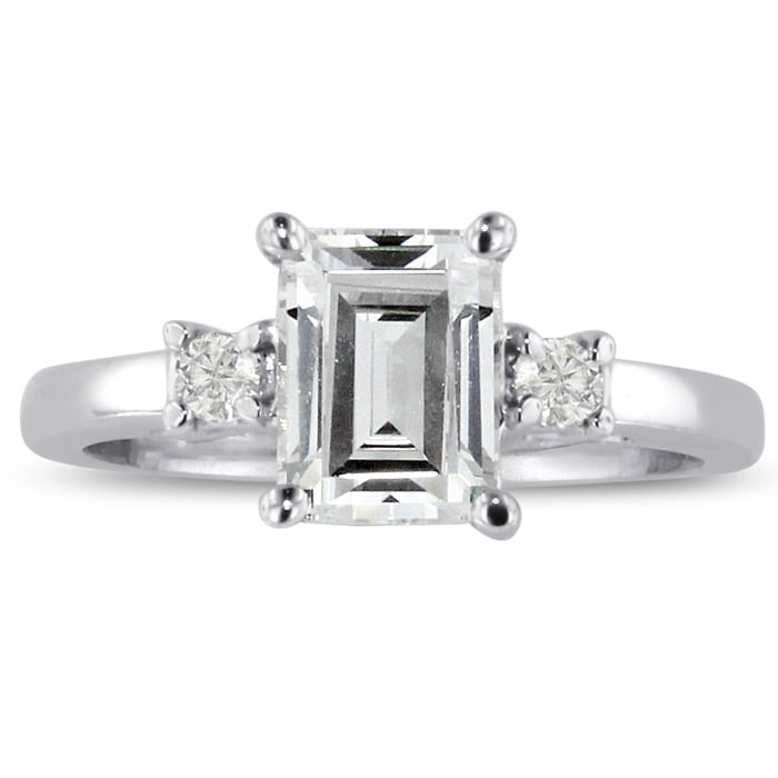 174e0126a14c29 1.6ct Emerald Cut Diamond Engagement Ring Crafted In Solid 14K White Gold