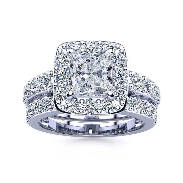 Halo Engagement Rings 2 1 4 Carat Princess Cut Halo Diamond Bridal