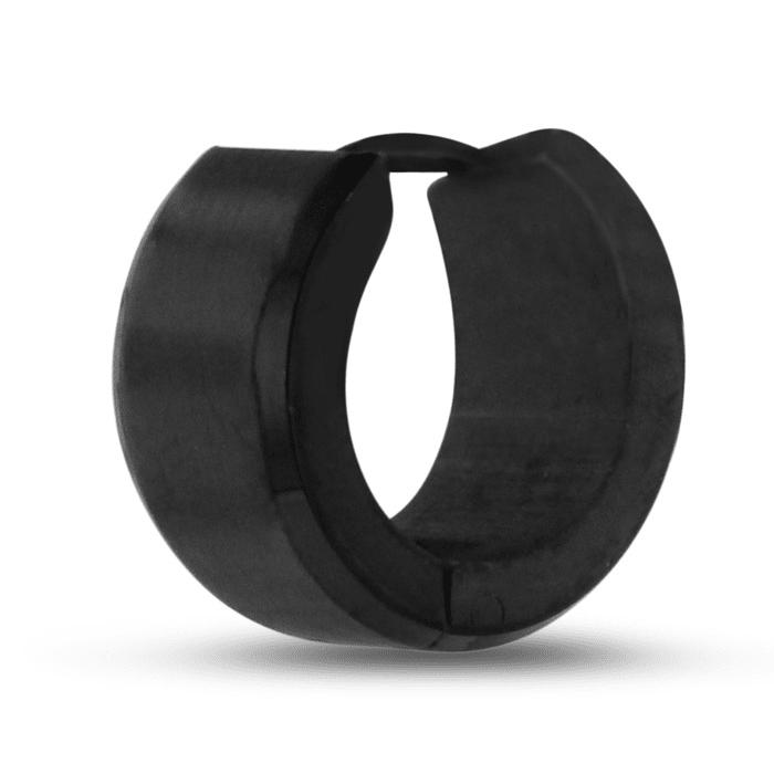 26bd3c9f9 Men's 7 MM Matte Black Stainless Steel Hoop Huggie Earring ...