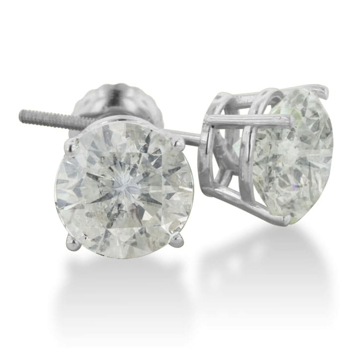 4ct Diamond Stud Earrings In 14k White Gold Item Number Jwl 12306