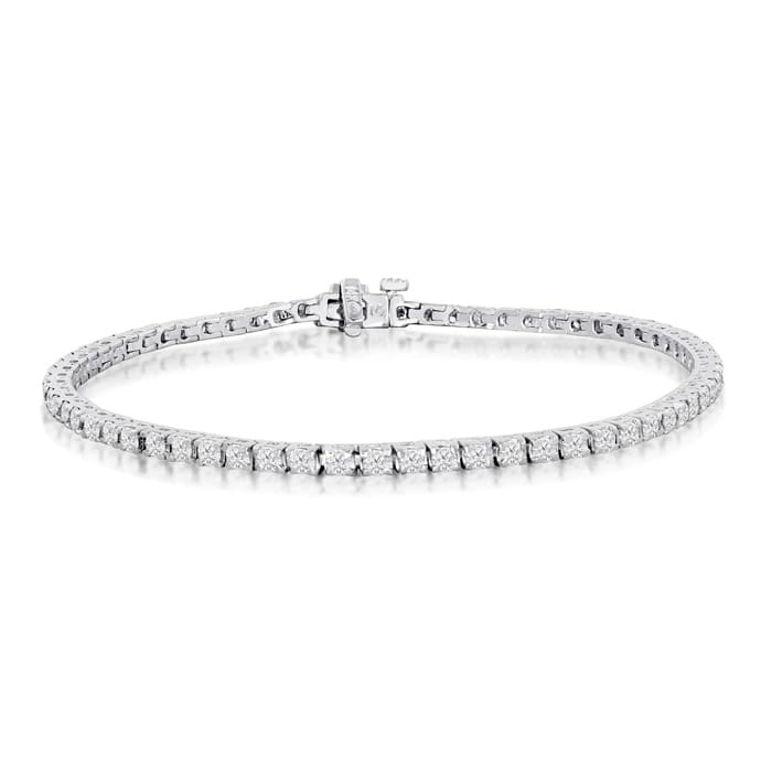 Tennis Bracelet Diamond 14k White Gold 6 Inch 2 56 Carat Best Jewelry Deals