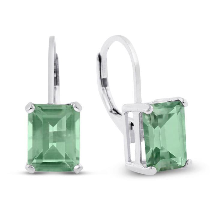 abf5982da Green Amethyst | Green Amethyst Earrings | 4 1/2ct Emerald Cut Green ...