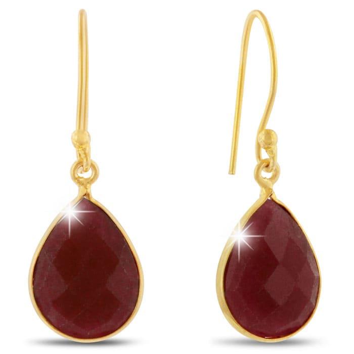 5b0338fbb Ruby Earrings   July Birthstone   12ct Ruby Teardrop Earrings in 18k ...