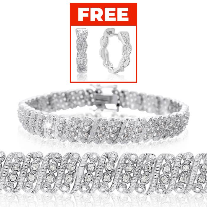 7351ff33d Tennis Bracelet | Diamond Tennis Bracelet | 1 Carat Four Row Diamond ...