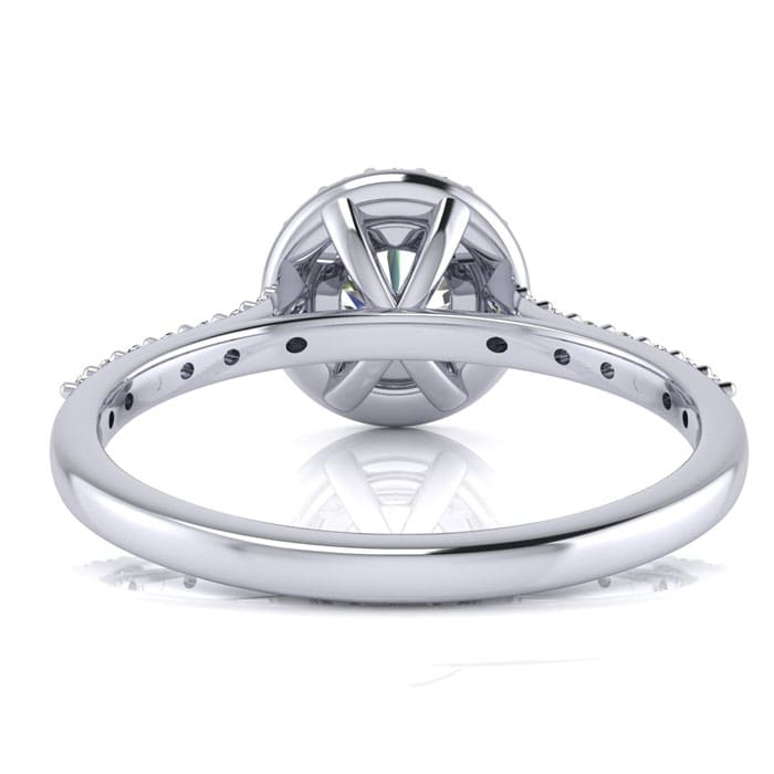 1 Carat Round Halo Diamond Engagement Ring in 14K White Gold. <<Save $500 with code PRIME500>>