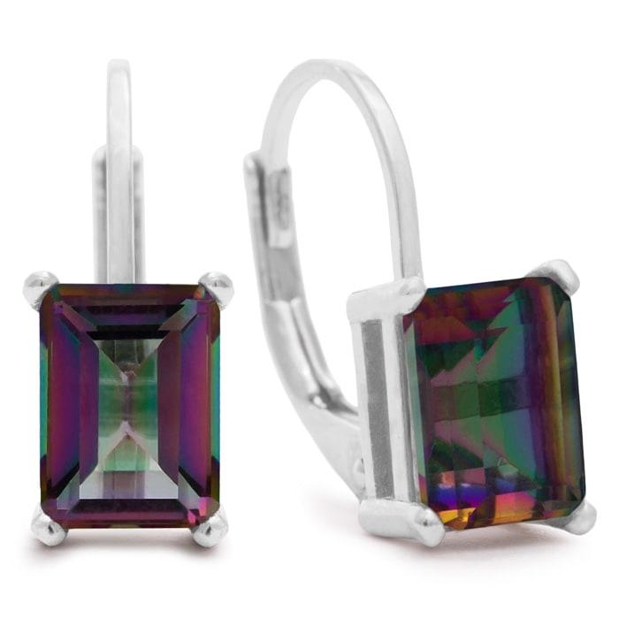 f55a2088a Mystic Topaz | Mystic Topaz Earrings | 2ct Emerald Cut Mystic Topaz ...