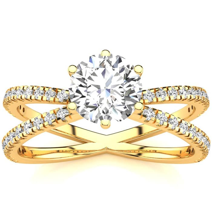 Natural 1.25 Ct Diamond Halo Ring Betrothal 18 Karat White Gold Size 6.5 8 9 Clearance Price Diamond Fine Jewelry