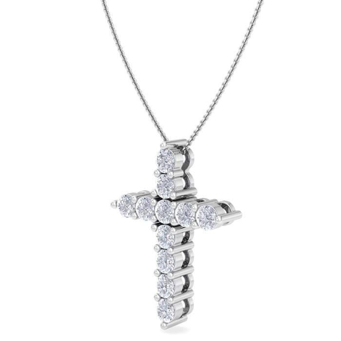 12 carat diamond cross necklace in 14 karat white gold 18 inches 12 carat diamond cross necklace in 14 karat white gold 18 inches item number jwl 20932 aloadofball Gallery