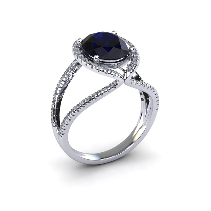 carat three sapphire ring tw diamonds stone with gold white engagement in of