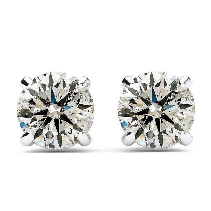 1 2ct Diamond Stud Earrings in 14k White Gold