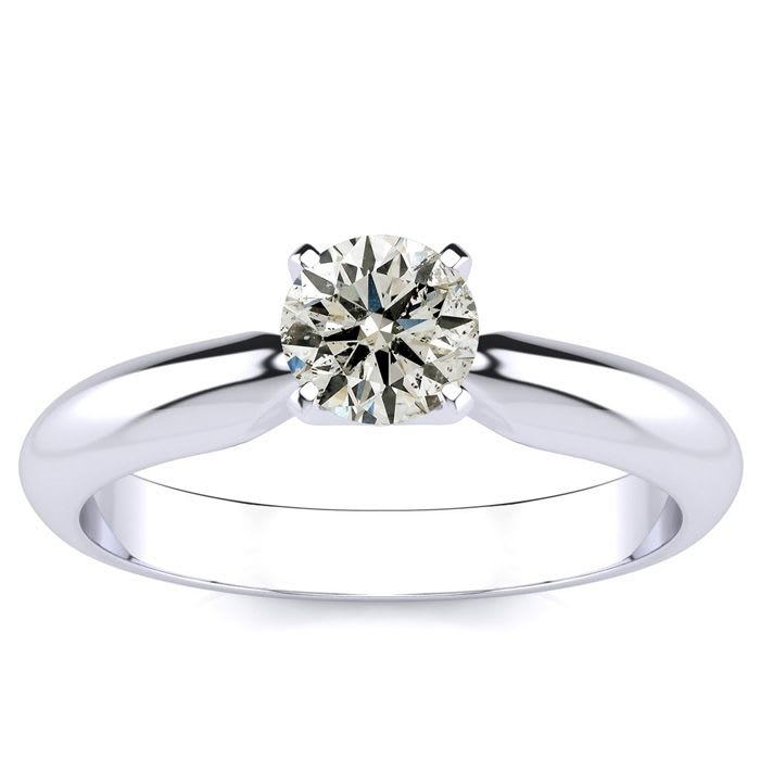 Clearance Deal 1 2ct Diamond Engagement Ring In White Gold Blowout
