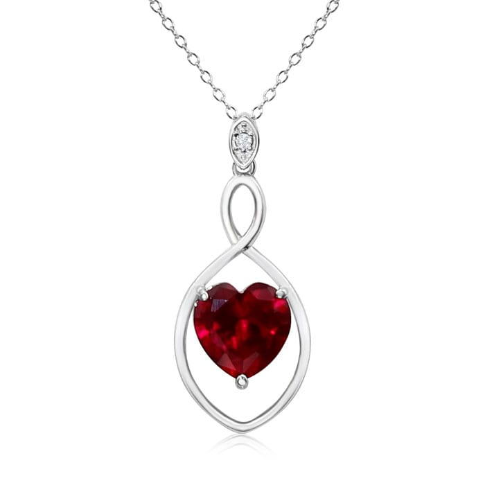 e1d6d677f43529 Ruby Necklace | July Birthstone | Best Jewelry Deals | 5 1/2 Carat ...