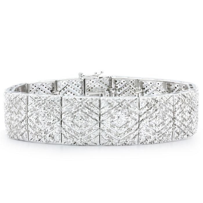 Art Deco Bold Diamond Bracelet Diamond Tennis Bracelet 2 Carat