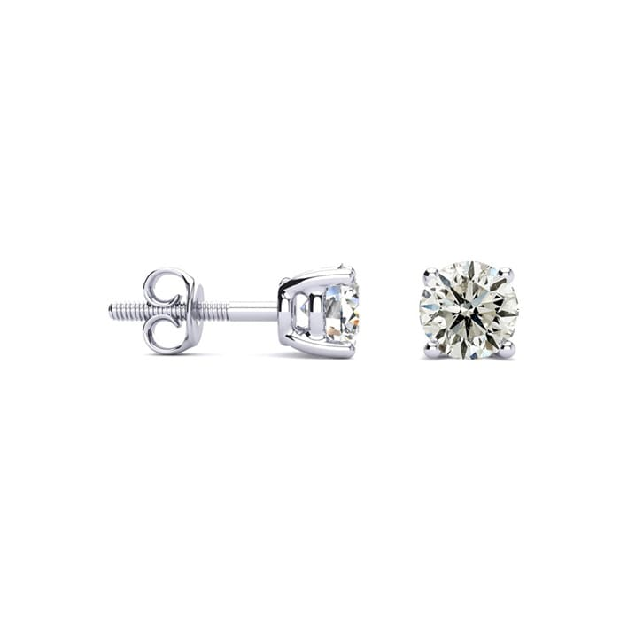 f2bb332ec 3/4ct Diamond Stud Earrings in 14k White Gold | SuperJeweler.com