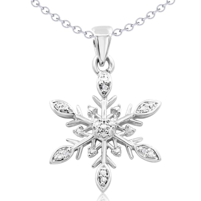 eff27bec5 Diamond Accent Snowflake Necklace, 18 Inches | SuperJeweler