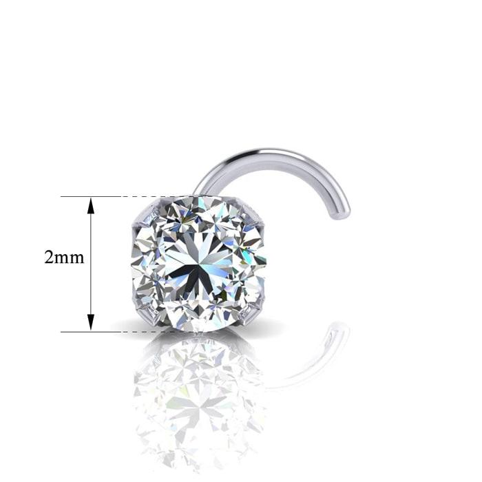 Diamond Nose Rings 0 03ct 2mm Diamond Nose Ring In 14k White