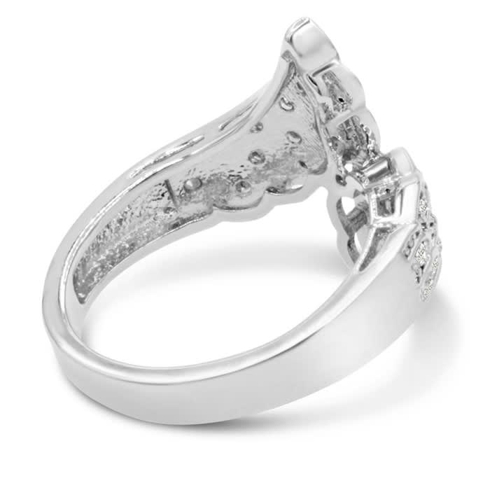 1/3 Carat Diamond Angel Wings Ring.  Incredibly Popular. Sells Out Fast!
