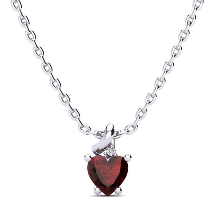b7443fd1be978 Garnet Necklace | January Birthstone | 1/2ct Garnet and Diamond ...