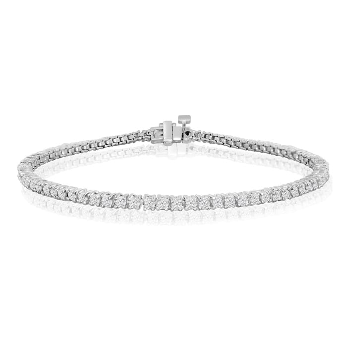 8 5 Inch 10k White Gold 2 3 Carat Diamond Tennis Bracelet Superjeweler