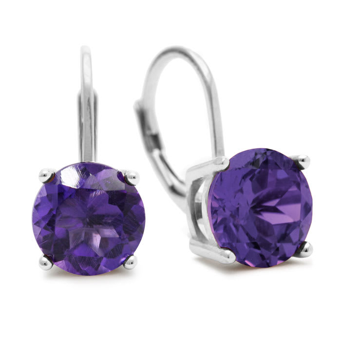 245a16f0c Amethyst Earrings | February Birthstone | 5ct Amethyst Drop Earrings ...